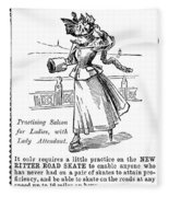 Roller Skates, 1896 Fleece Blanket