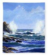 Rolling Surf Fleece Blanket