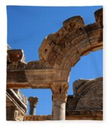 Roman Arch Ephesus Turkey Fleece Blanket