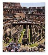 Roman Coleseum Interior Fleece Blanket