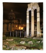 Roman Ruins 1 Fleece Blanket