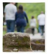 Roman Ruins In Chester Fleece Blanket