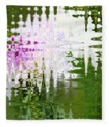 Romance In Paris - Abstract Art Fleece Blanket