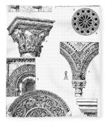 Romanesque Ornament Fleece Blanket