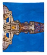 Romano Spaceship - Archifou 73 Fleece Blanket