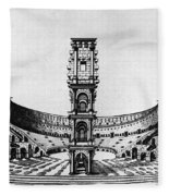Rome: Colosseum, 1685 Fleece Blanket