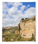 Ronda Cliffs In Andalusia Fleece Blanket