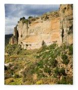 Ronda Rock In Andalusia Fleece Blanket