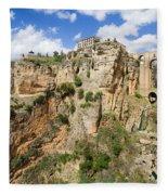 Ronda Rocks In Andalusia Fleece Blanket