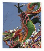 Roof Dragon Fleece Blanket