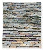 Roof Tiles Fleece Blanket
