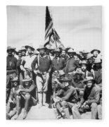 Roosevelt & Rough Riders Fleece Blanket