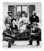 Roosevelt Family 1878 Fleece Blanket
