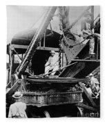 Roosevelt, Panama Canal Construction Fleece Blanket