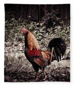 Rooster Red Fleece Blanket