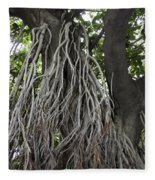 Roots From A Large Tree Inside Jallianwala Bagh Fleece Blanket