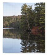Rope Swing On Bear Creek Lake Fleece Blanket