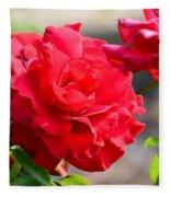 Rosas Roja Fleece Blanket