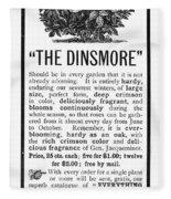 Rose Advertisement, 1890 Fleece Blanket