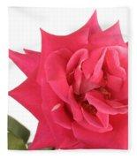 Rose Blooming Fleece Blanket