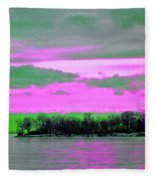 Rose Colore Scape Fleece Blanket