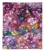 Rose Festival Fleece Blanket