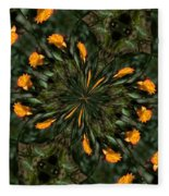 Rose Kaleidoscopic  Fleece Blanket