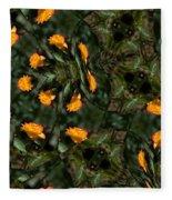 Rose Kaleidoscopic Mirror  Fleece Blanket