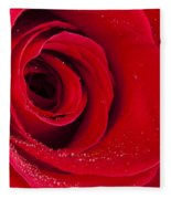 Rose Macro Wet 1 C Fleece Blanket