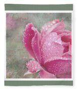 Rose Triptych 11 Fleece Blanket