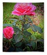 Rose Vignette Fleece Blanket