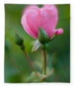 Rose With Pink Glow Fleece Blanket