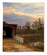 Roseman Bridge Fleece Blanket