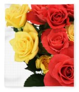 Roses Closeup Fleece Blanket