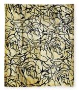 Roses Pattern Fleece Blanket