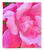 Roses Perfectly Pink Fleece Blanket