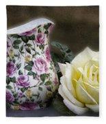 Roses Speak Of Romance Fleece Blanket