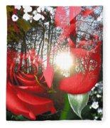 Rosesredred Fleece Blanket