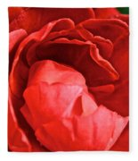 Rosie Red Fleece Blanket