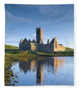 Rosserk Friary, Co Mayo, Ireland 15th Fleece Blanket