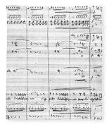 Rossini Manuscript Page Fleece Blanket
