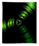 Rotation Green Fleece Blanket