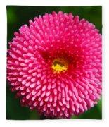 Round Pink Flower Fleece Blanket