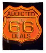 Route 66 Addicted Fleece Blanket