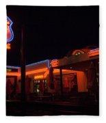Route 66 At Night Fleece Blanket