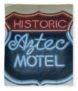 Route 66 Aztec Hotel Mural Fleece Blanket