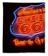 Route 66 Bar And Grill Fleece Blanket