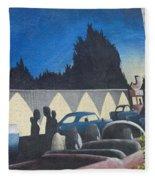Route 66 Brandon Mural Fleece Blanket