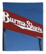 Route 66 Burma Shave Fleece Blanket