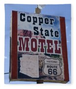 Route 66 Copper State Motel Fleece Blanket